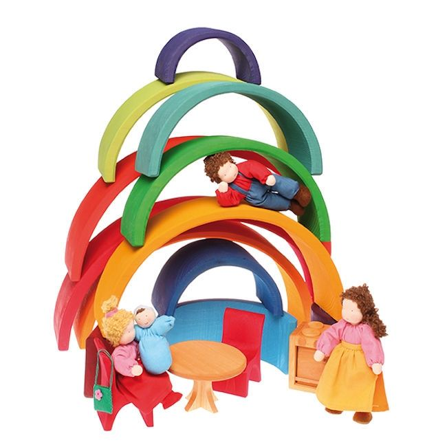 Grimms 12 Piece Bright Rainbow