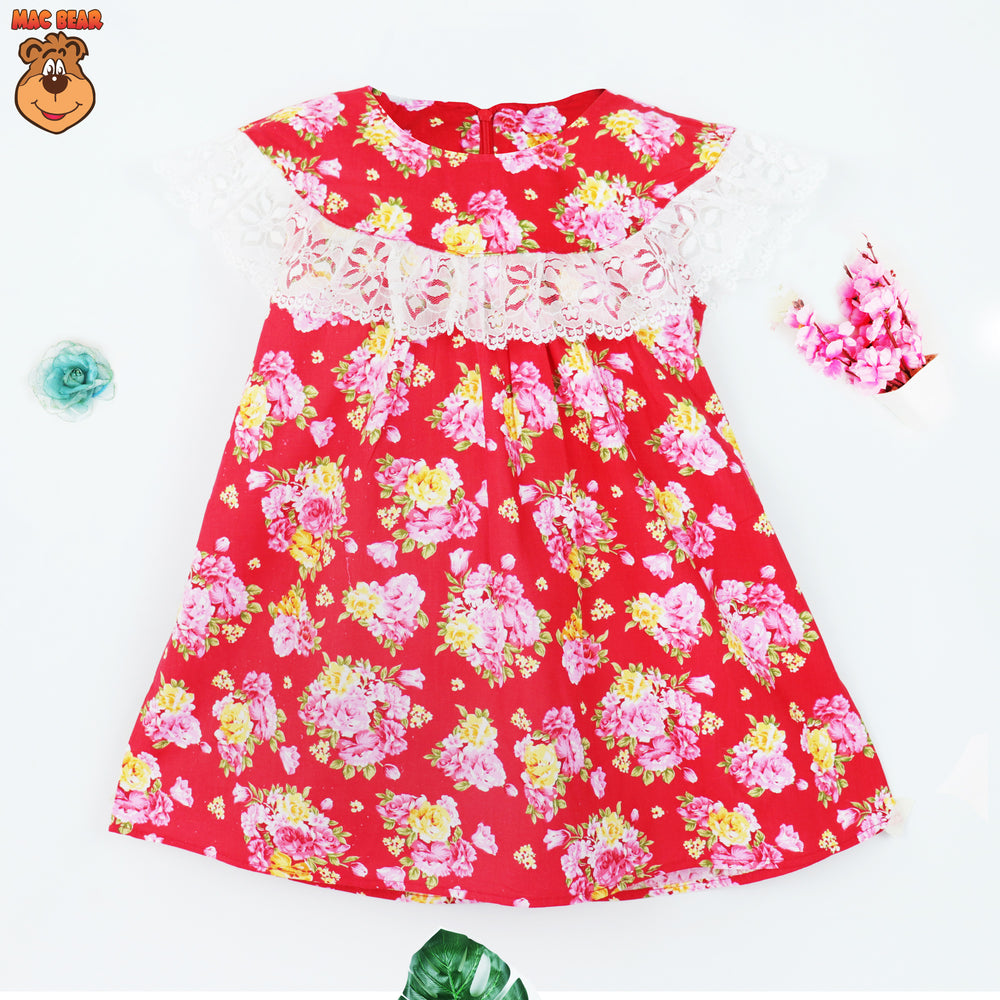MacBee Junior Dress Anak Flowers Elvina Variasi Renda