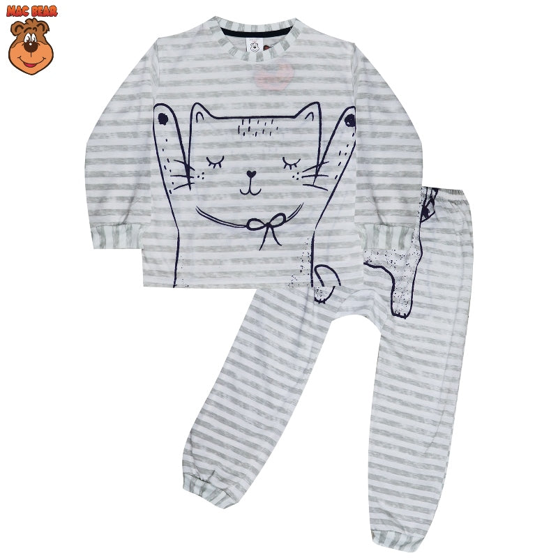 MacBear Kids Baju Anak Piyama Happy Cat