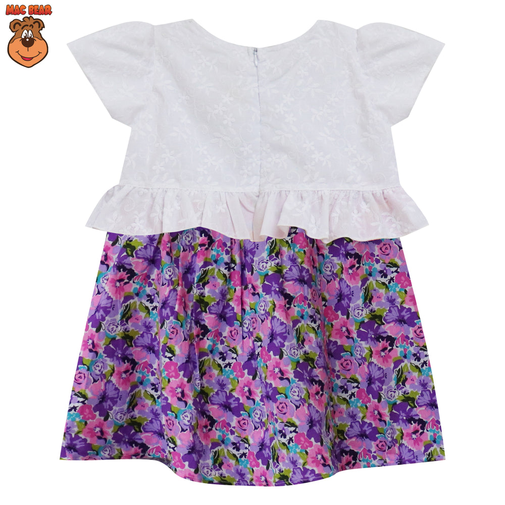 MacBee Baju Anak Dress Cayla Flowers Variasi Ruffler