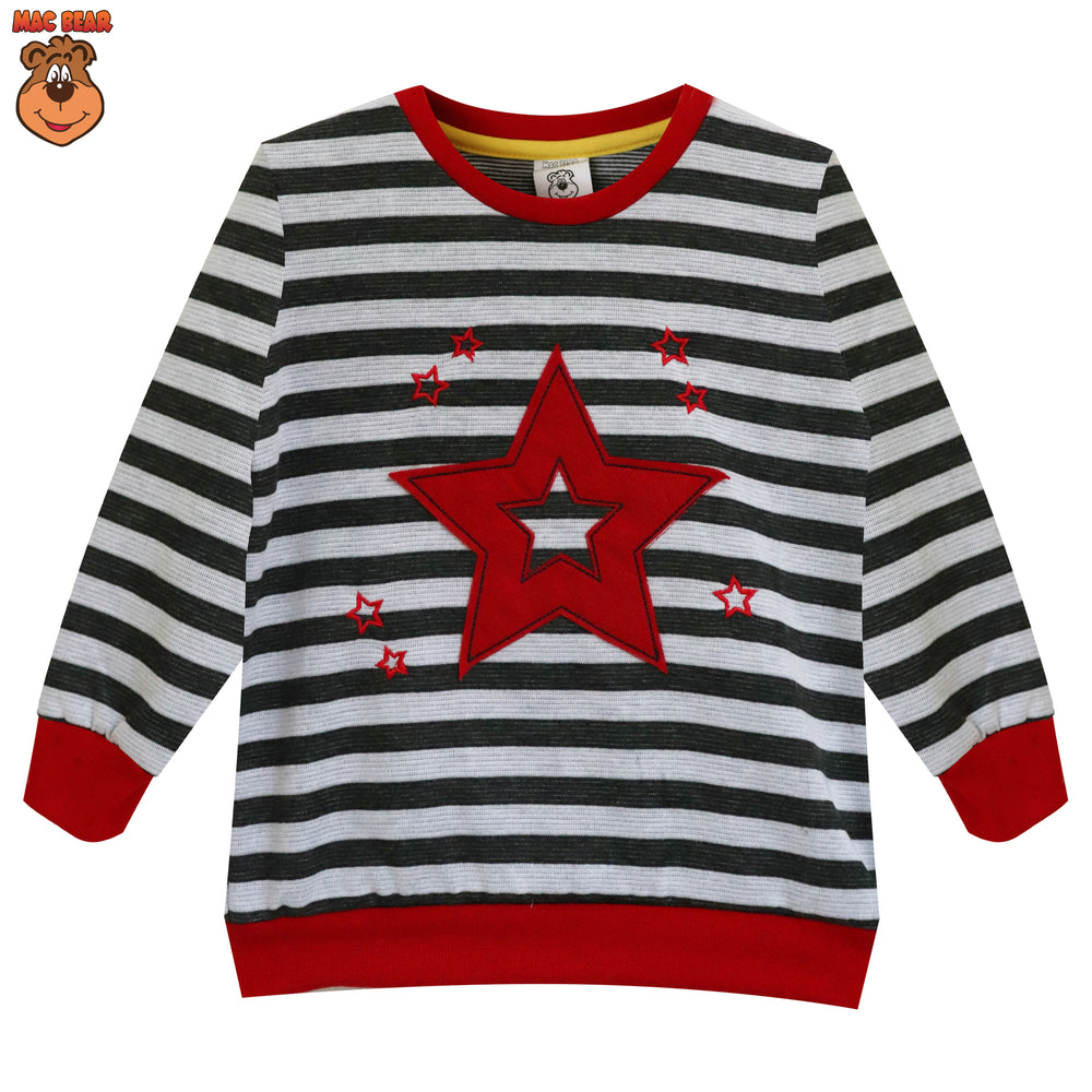 MacBear Junior Baju Anak Sweater Stripes Stars Cool