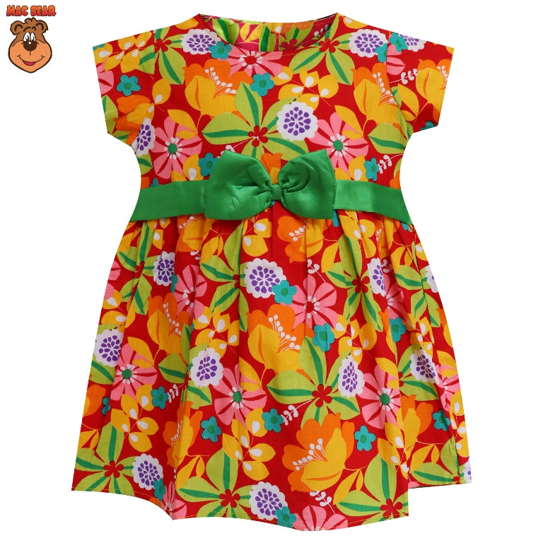 MacBee Kids Baju Anak Dress Ribbon Melcia Flowers