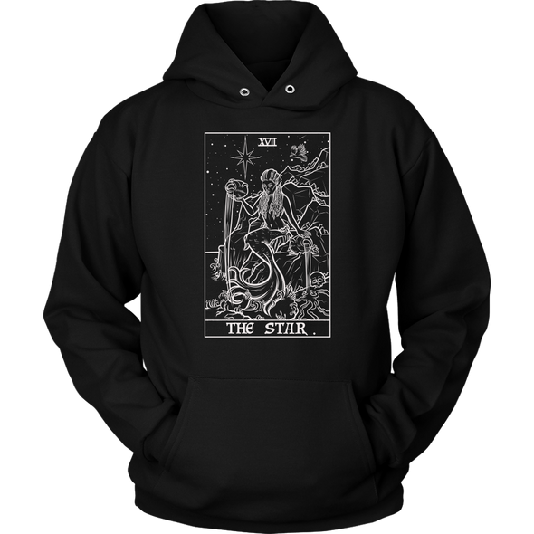 (Black & White) The Star Tarot Card Hoodie - Ghoulish Edition