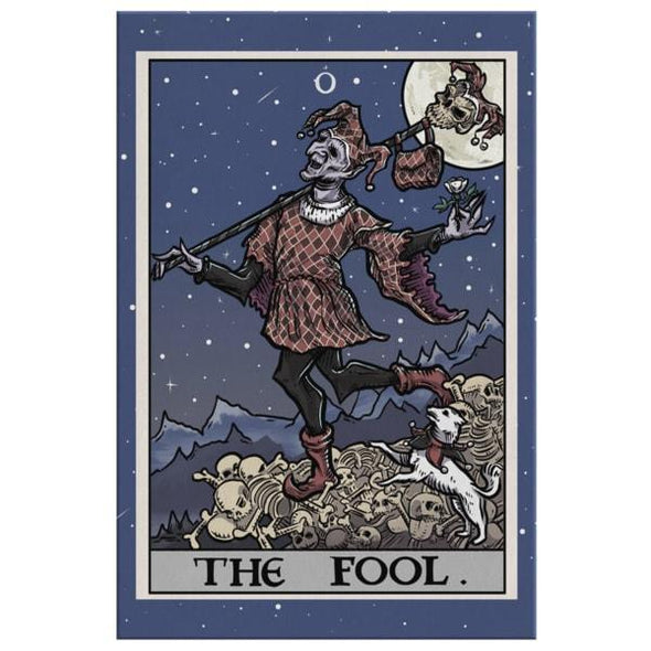 teelaunch Canvas Wall Art 2 8 x 12 The Fool Tarot Card - Ghoulish Edition Canvas Print