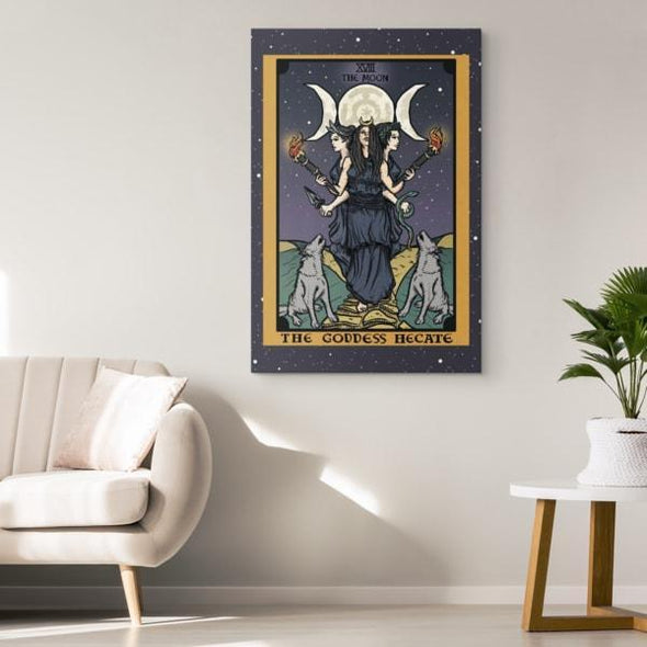 teelaunch Canvas Wall Art 2 8 x 12 The Goddess Hecate In Tarot Canvas Print