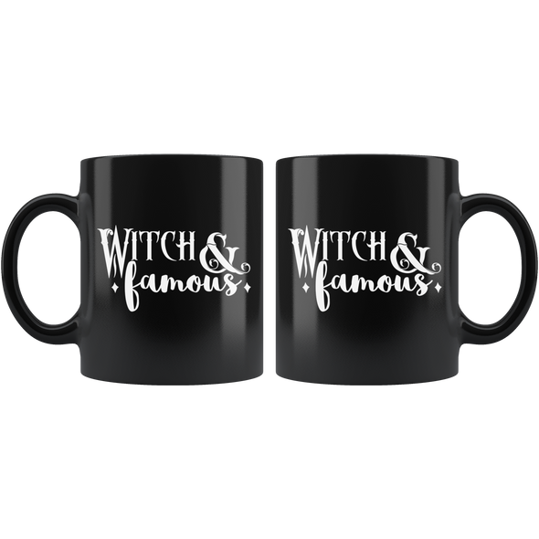 teelaunch Drinkware 11 oz Witch & Famous Black Coffee Mug