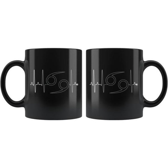 teelaunch Drinkware 11oz Cancer - Zodiac Arrest Black Mug