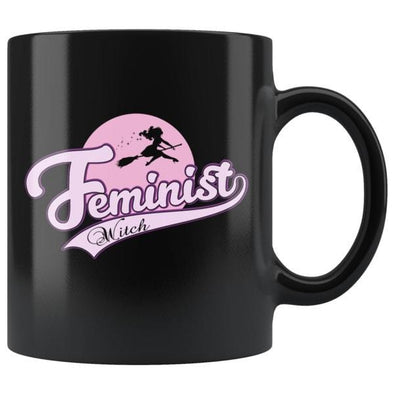 teelaunch Drinkware 11oz Feminist Witch Black Coffee Mug