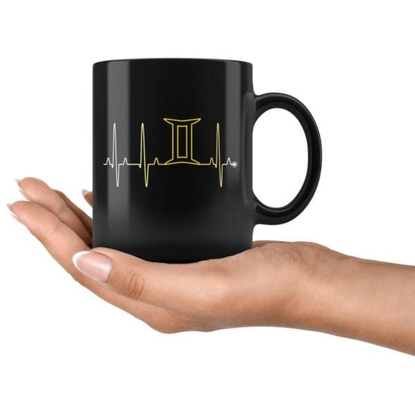 teelaunch Drinkware 11oz Gemini - Zodiac Arrest Black Mug