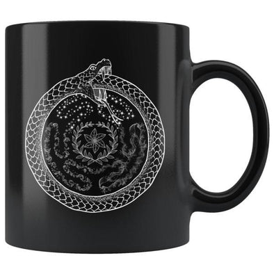 teelaunch Drinkware 11oz Hecate's Wheel Black Coffee Mug