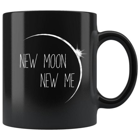 teelaunch Drinkware 11oz New Moon New Me Black Coffee Mug