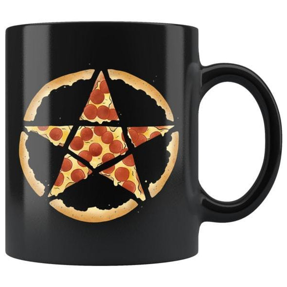 teelaunch Drinkware 11oz Pizzagram Black Coffee Mug