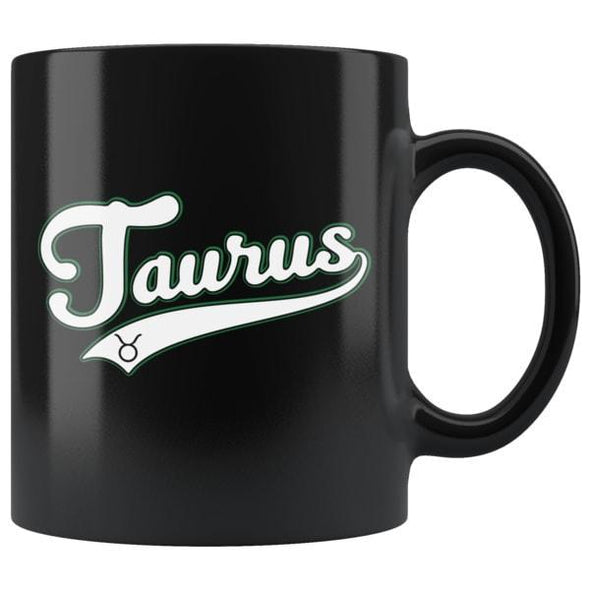 teelaunch Drinkware 11oz Taurus - Baseball Style Black Coffee Mug