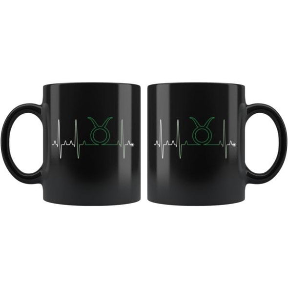 teelaunch Drinkware 11oz Taurus - Zodiac Arrest Black Coffee Mug
