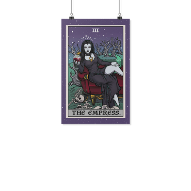 teelaunch Posters 2 11x17 The Empress Tarot Card - Ghoulish Edition Poster