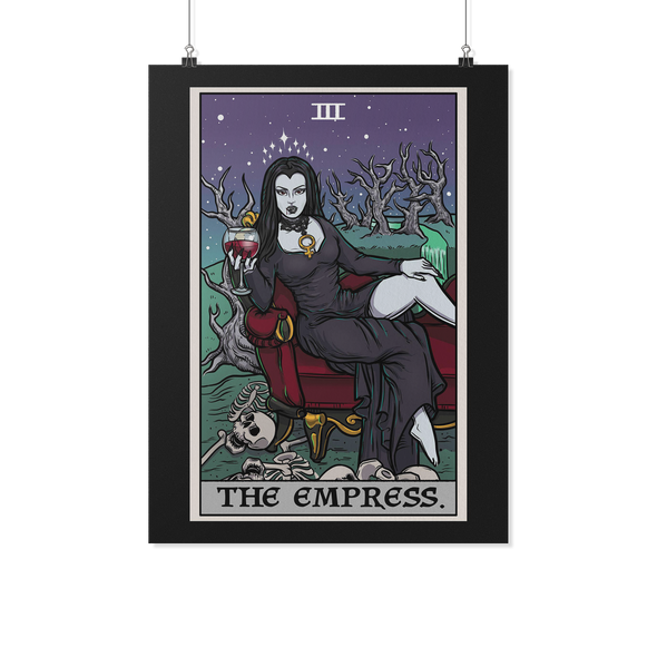 teelaunch Posters 2 18x24 The Empress Tarot Card - Ghoulish Edition Poster