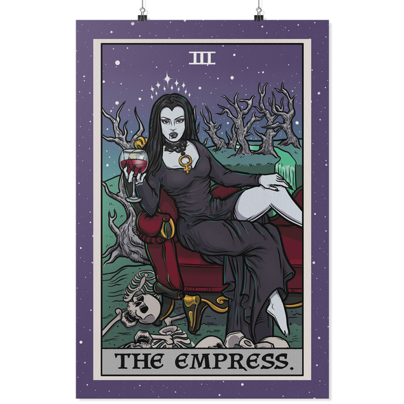 teelaunch Posters 2 24x36 The Empress Tarot Card - Ghoulish Edition Poster