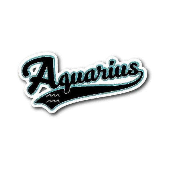 teelaunch Stickers Sticker Aquarius - Baseball Style Sticker