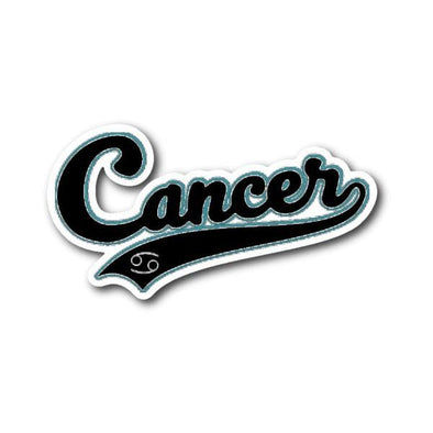 teelaunch Stickers Sticker Cancer - Baseball Style Sticker