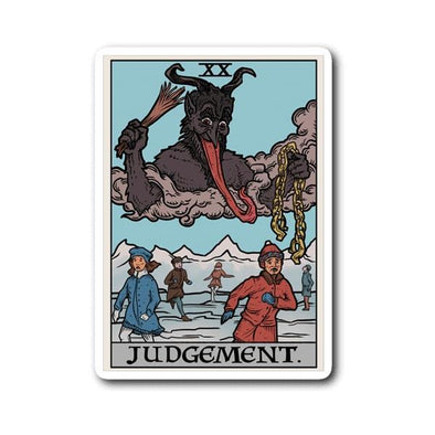 teelaunch Stickers Sticker Judgement By Krampus Sticker