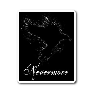teelaunch Stickers Sticker Nevermore Sticker