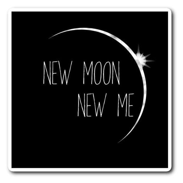 teelaunch Stickers Sticker New Moon New Me Sticker