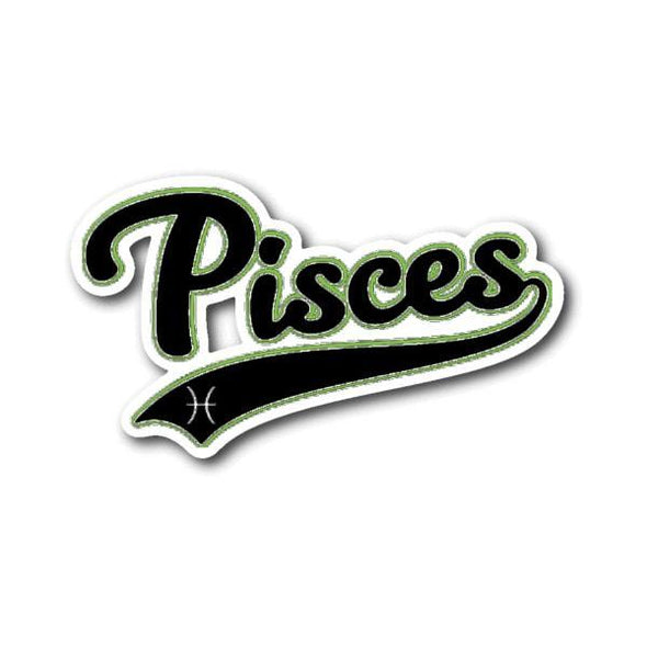 teelaunch Stickers Sticker Pisces - Baseball Style Sticker