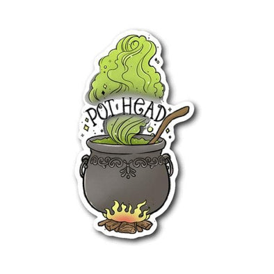 teelaunch Stickers Sticker Pot Head Sticker