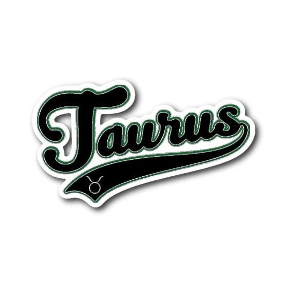 teelaunch Stickers Sticker Taurus - Baseball Style Sticker
