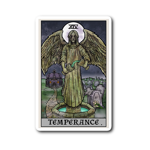 teelaunch Stickers Sticker Temperance Tarot Card - Ghoulish Edition Sticker