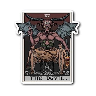 teelaunch Stickers Sticker The Devil Tarot Card Sticker