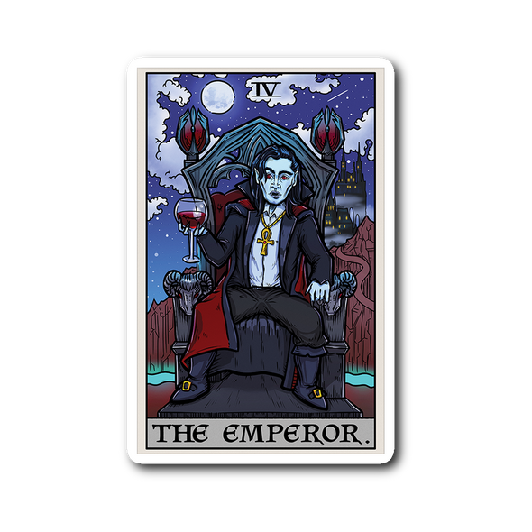 teelaunch Stickers Sticker The Emperor Tarot Card - Ghoulish Edition Sticker