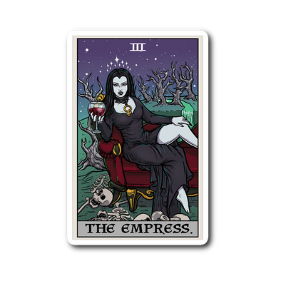teelaunch Stickers Sticker The Empress Tarot Card - Ghoulish Edition Sticker