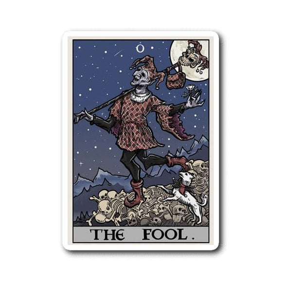 teelaunch Stickers Sticker The Fool Tarot Card Sticker