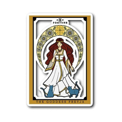 teelaunch Stickers Sticker The Goddess Freyja Tarot Sticker