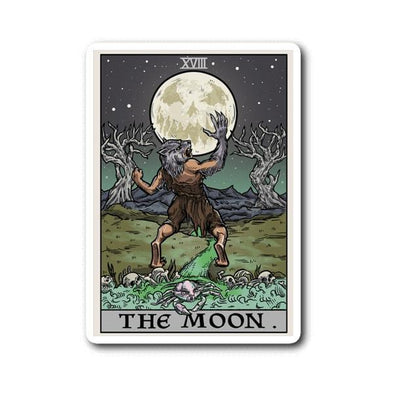 teelaunch Stickers Sticker The Moon Tarot Card Sticker