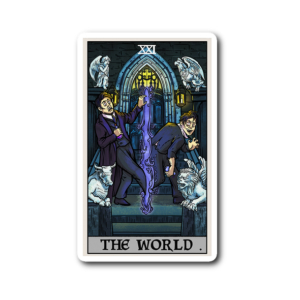 teelaunch Stickers Sticker The World Tarot Card - Ghoulish Edition Sticker