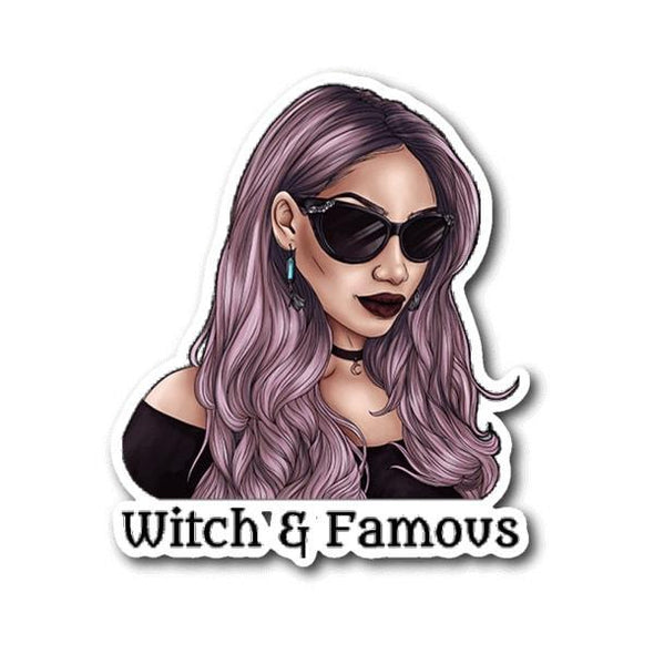 teelaunch Stickers Sticker Witch and Famous Sticker