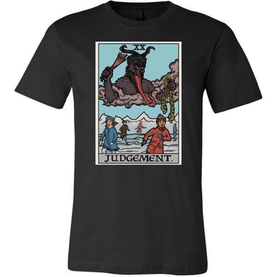 teelaunch T-shirt Canvas Mens Shirt / Black / S Judgement By Krampus Unisex T-Shirt
