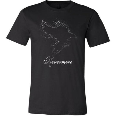 teelaunch T-shirt Canvas Mens Shirt / Black / S Nevermore Unisex T-Shirt