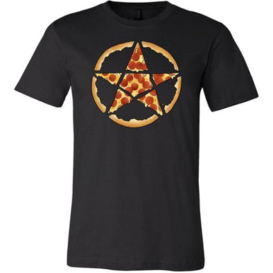 teelaunch T-shirt Canvas Mens Shirt / Black / S Pizzagram Unisex T-Shirt