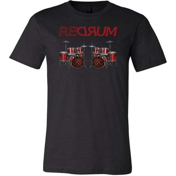 teelaunch T-shirt Canvas Mens Shirt / Black / S REDRUM Unisex T-Shirt