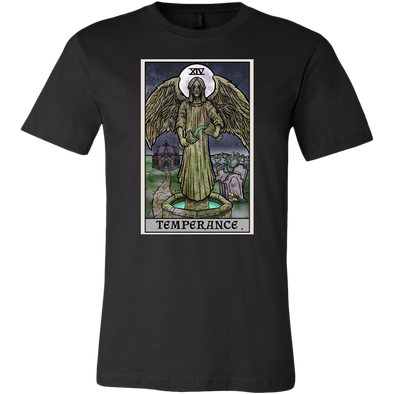 teelaunch T-shirt Canvas Mens Shirt / Black / S Temperance Tarot Card - Ghoulish Edition Unisex T-Shirt