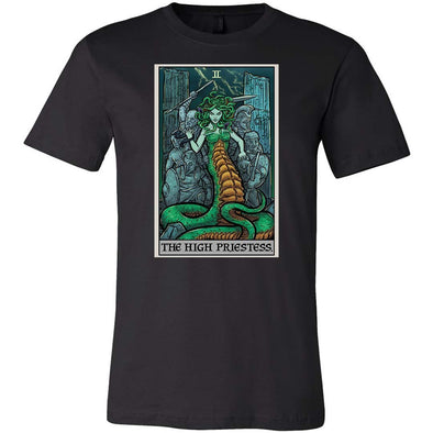 teelaunch T-shirt Canvas Mens Shirt / Black / S The High Priestess Tarot Card - Ghoulish Edition Unisex T-Shirt