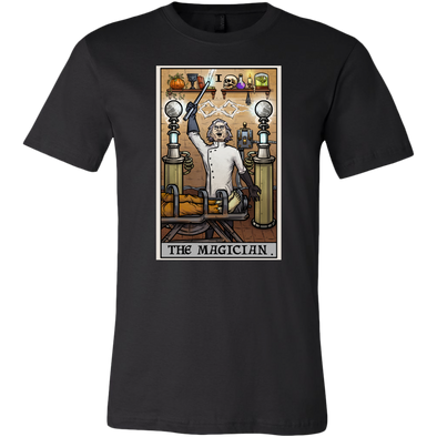 teelaunch T-shirt Canvas Mens Shirt / Black / S The Magician Tarot Card - Ghoulish Edition Unisex T-Shirt