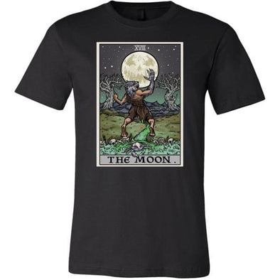 teelaunch T-shirt Canvas Mens Shirt / Black / S The Moon Tarot Card Unisex T-Shirt