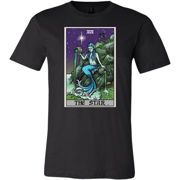 teelaunch T-shirt Canvas Mens Shirt / Black / S The Star Tarot Card - Ghoulish Edition Unisex T-Shirt