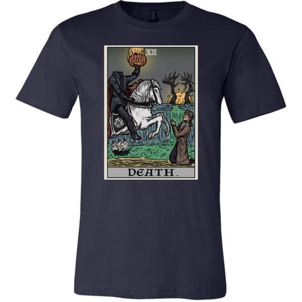 teelaunch T-shirt Canvas Mens Shirt / Navy / S Death Tarot Card Unisex T-Shirt