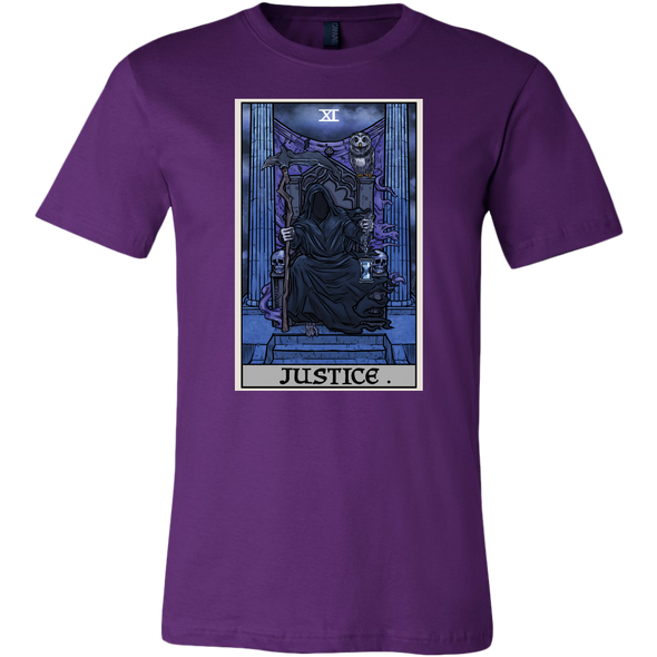 teelaunch T-shirt Canvas Mens Shirt / Team Purple / S Justice Tarot Card - Ghoulish Edition Unisex T-Shirt