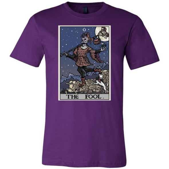 teelaunch T-shirt Canvas Mens Shirt / Team Purple / S The Fool Tarot Card Unisex T-Shirt